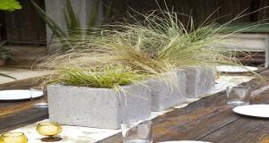 idee deco jardin avec des parpaings pour fabriquer jardinière, banc et table de jardin