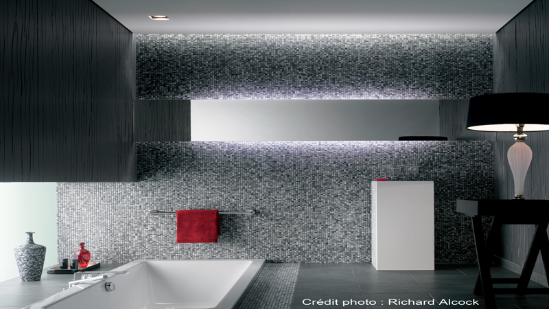 carrelage salle de bain blanc joint gris sol mosaique noir blanc. Black Bedroom Furniture Sets. Home Design Ideas