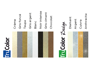 Nuancier joint carrelage trucolor bostik 8 couleurs 4 effets design pailletes for Peinture pour joints de carrelage