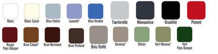 Nuancier 17 couleurs de la peinture bois exterieur Aqua-Stop V33 qui s'applique directement sur bois lasuré, déjà peint ou sur bois verni