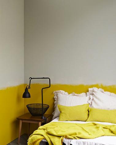 Peinture chambre jaune et gris des couleurs de chambre adulte for Peindre une chambre adulte