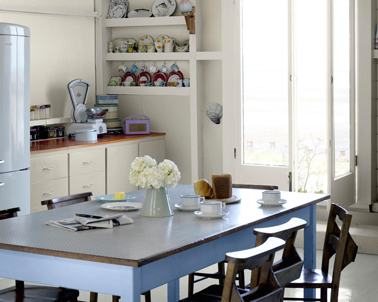 Peinture meuble de cuisine le top 5 des marques for Cuisine couleur bleu gris