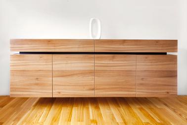 Relooker un buffet avec un pochoir invers photo avant - Pochoir pour meuble en bois ...
