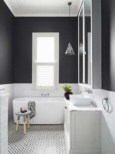 une salle de bain qui prouve combien la teinte grise est une couleur dco facile - Faience Grise Pour Salle De Bain