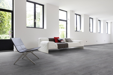 Sol Stratifie Lames A Clipser Gerflor Top Silence Decor Bois Couleur Gris Deco Salon