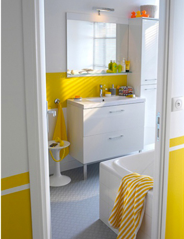 Awesome Salle De Bain Jaune Et Gris Images - House Design ...