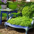 astuce déco pour faire jardinière et balançoire en bois avec des chaises de récup