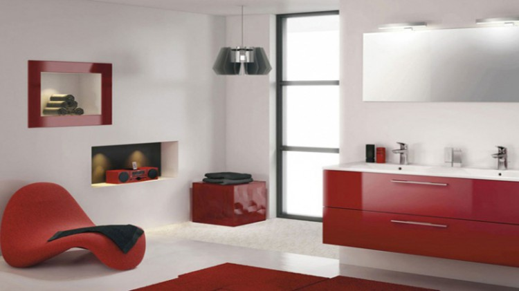 peinture salle de bain et couleurs pop on aime d co cool. Black Bedroom Furniture Sets. Home Design Ideas