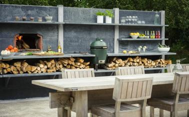 Une cuisine ext rieure pour l 39 t c 39 est le top i d co cool - Dalle beton refractaire pour barbecue ...