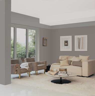 Peinture Salon Gris Of Mur De Salon Couleur Taupe