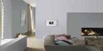 idee ambiance couleur salon avec peinture gris taupe
