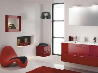 les concepteurs artistiques salle de bain rouge et blanc. Black Bedroom Furniture Sets. Home Design Ideas