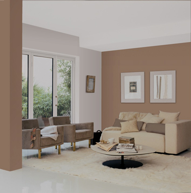 12 nuances de peinture gris taupe pour le salon for Photo couleur taupe