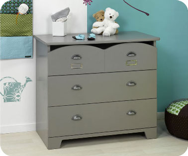 Chambre enfant commode gris farrow and ball for Commode chambre but
