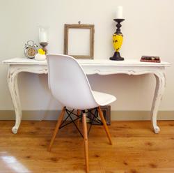 Console fabriqu e avec table en bois coupee peinture - Fabriquer une console en bois ...