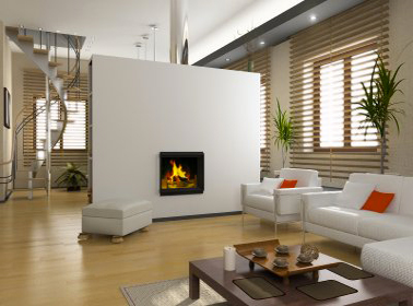 Une couleur lin associée à une harmonie de teintes naturelles pour la peinture et la déco d'une salon moderne