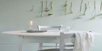 couleur peinture gris perle sur murs salle à manger pour une ambiance fraîche et lumineuse