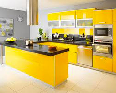 Comment associer la couleur gris en d coration deco cool for Cute yellow kitchen ideas