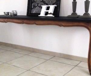 Comment fabriquer une console avec une table en bois à placer dans l'entrée, DIY