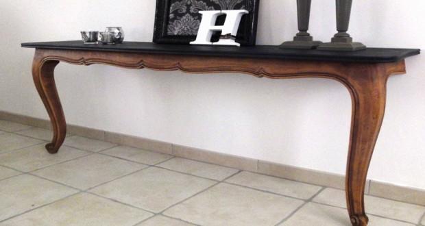 fabriquer une console sympa avec une vieille table diy d co cool. Black Bedroom Furniture Sets. Home Design Ideas