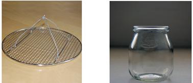 grille métallique et pot de yaourt pour faire lampion à bougies soi-même