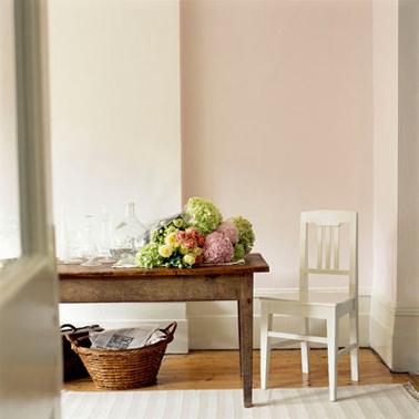 Peinture une couleur pastel sur les murs c 39 est tendance for Peinture beige rose