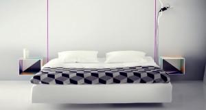 Idée déco pour moderniser une chambre pour pas cher. Relooker le lit et les tables de chevet, astuces et DIY