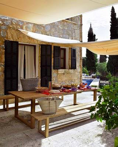 6 id es de pergola terrasse et voile d 39 ombrage d co cool. Black Bedroom Furniture Sets. Home Design Ideas