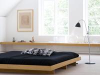Une couleur de chambre dans des teintes naturelles pour ceux qui souhaite une harmonie de teintes douces et pastel utilisées en camaïeux