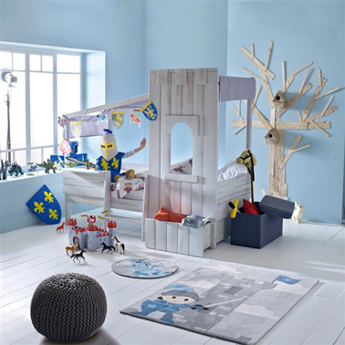 lit enfant ch teau fort pour gar on aventurier. Black Bedroom Furniture Sets. Home Design Ideas