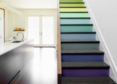 Pin repeindre un escalier pour le relooker on pinterest - Repeindre escalier en bois ...