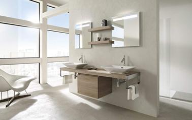 Salle de bain couleur lin ambiance zen meubles jacob delafon - Idee couleur salle de bain zen ...