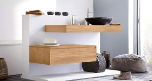 idee déco et photo pour amenager une salle de bain zen avec meubles vasque baignoire, douche et carrelage