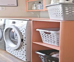 Astuce déco pour relooker sa machine à laver ou un appreil électroménager avec du ruban adhésif isolant pour électricité