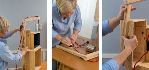 Fabriquer une table de chevet avec des caisses a vin - Fabriquer une table de chevet ...