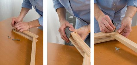 Terminer l'assemblage du pied de la lampe de chevet en vissant le bras articulé du pied de lampe, et assurer le maintien avec un écrou papillon