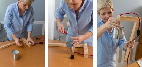 fabriquer une table de chevet avec des caisses a vin d co. Black Bedroom Furniture Sets. Home Design Ideas