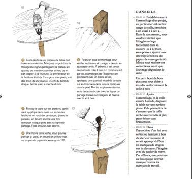 """Le tuto avec photos et conseils pour fabriquer une table basse avec du bois de récup extrait du livre """" Créations de meubles en bois de récup' aux Editions Dunod"""