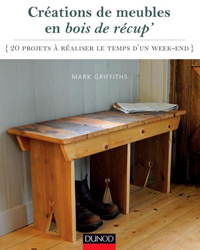 livre diy 20 projets meubles en bois de r cup. Black Bedroom Furniture Sets. Home Design Ideas