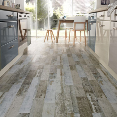 Carrelage gris clair ou anthracite on aime les deux for Lino ou carrelage