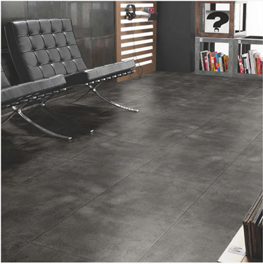 Carrelage sol mur antharcite aspect beton leroy merlin for Carrelage gris clair brillant