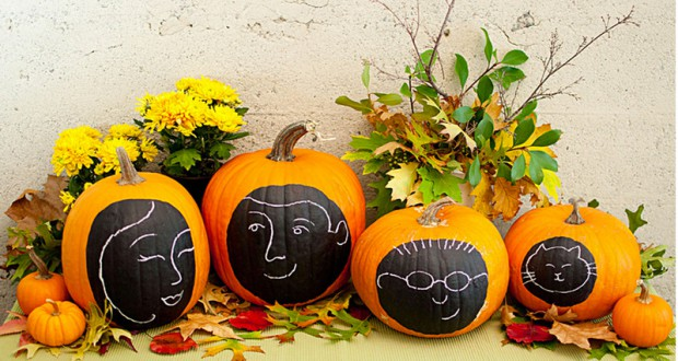 D corer une citrouille d 39 halloween avec ses portraits - Decoration halloween a faire ...