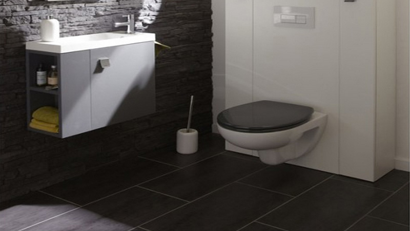 Carrelage gris clair ou anthracite on aime les deux for Photo de salle de bain carrelage gris