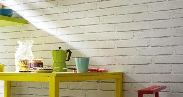 Le papier peint a effet fait le mur chez leroy merlin d co - Leroy merlin cuisine exterieure ...