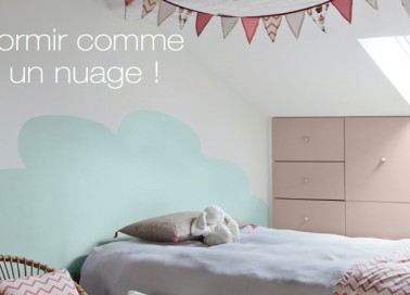 comment dessiner des nuages sur un mur. Black Bedroom Furniture Sets. Home Design Ideas