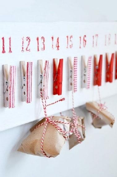 Calendrier de l 39 avent ultra facile faire avec les enfants - Fabriquer calendrier de l avent facile ...
