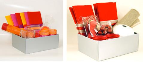 pour fêter Noël en couleurs ! Du rouge, rose, oranger, c'est chaud et joyeux, du lin, des rondins de bois pour une table dans la pure tradition de Noël.