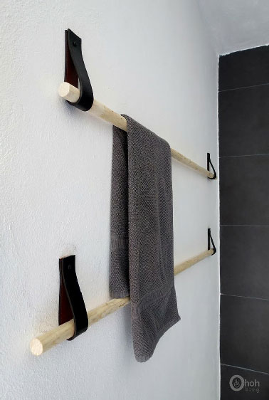 Fabriquerporteserviettepascherencuiretbois - Porte serviette en bois