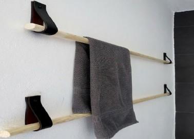 Fabriquer un porte serviette sympa avec 4 euros d co cool - Faire une salle de bain pas cher ...