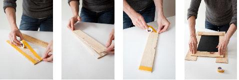 Préparer une double épaisseur de planchettes pour le haut et le bas pour former le cadre du tableau.